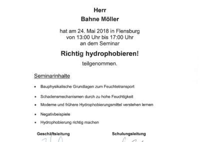 Richtig Hydrophobieren